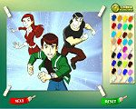 Ben 10 With Friends Coloring